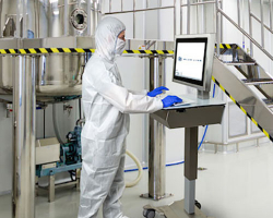 Mobile Operator Station - Mobile Trolley T1000 in cleanroom