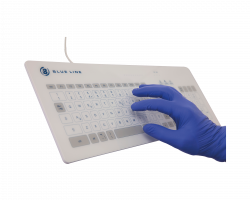Antibacterial Touch Keyboard operable with gloves