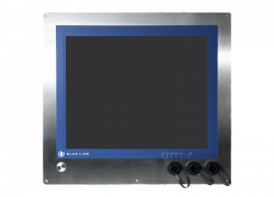 "19"" HMI Panel PC for in-wall mounting in cleanroom"