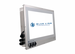 "21.5"" HMI Panel PC for in-wall mounting in cleanroom - Example of I/O configuration"